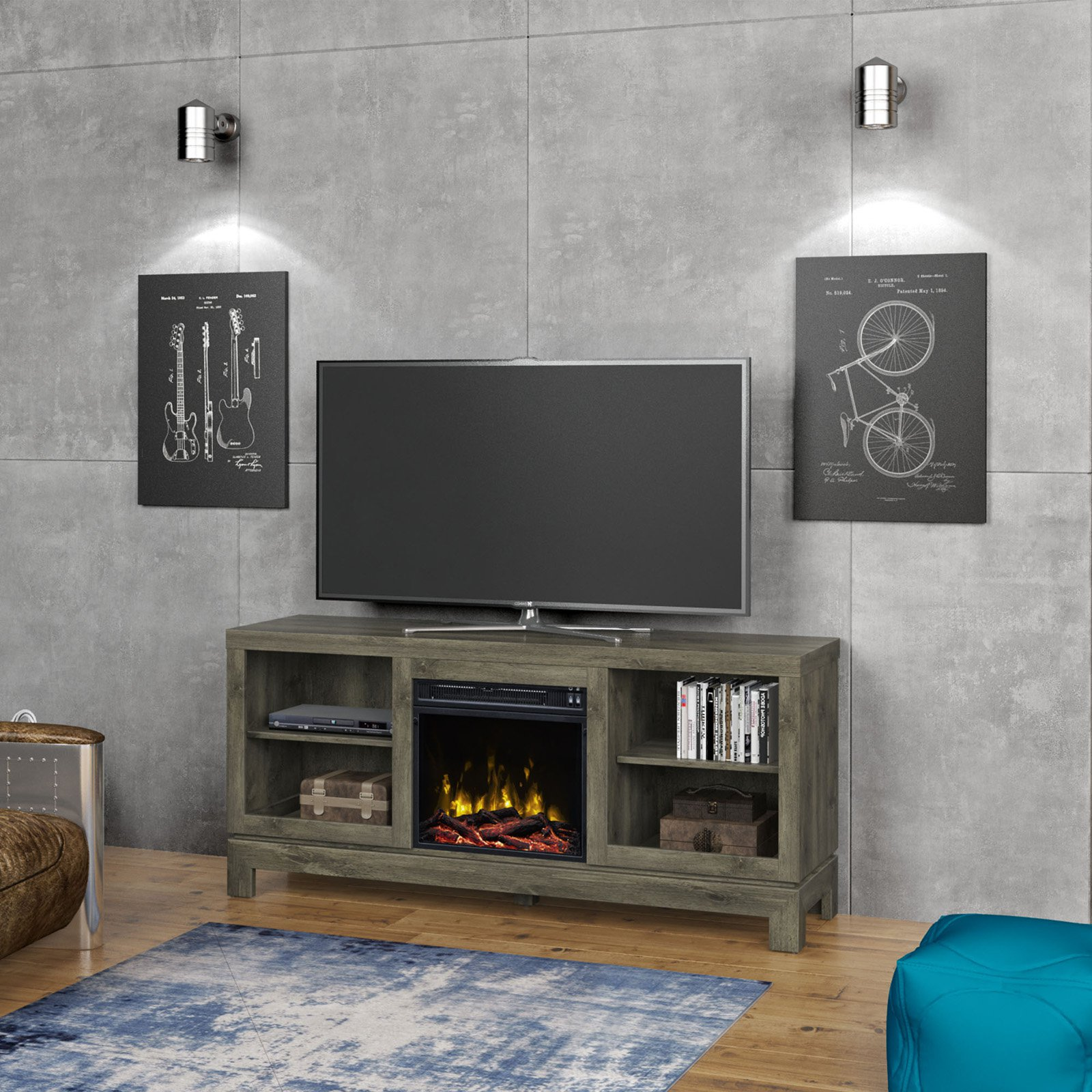 Classic Flame Berkeley Electric Fireplace Tv Stand Walmartcom