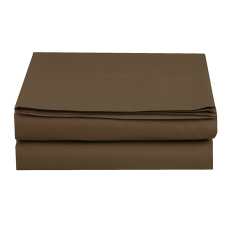 Fitted Sheet  Wrinkle-Free 1500 Thread Count  1-Piece Fitted Sheet, Queen Size, Chocolate