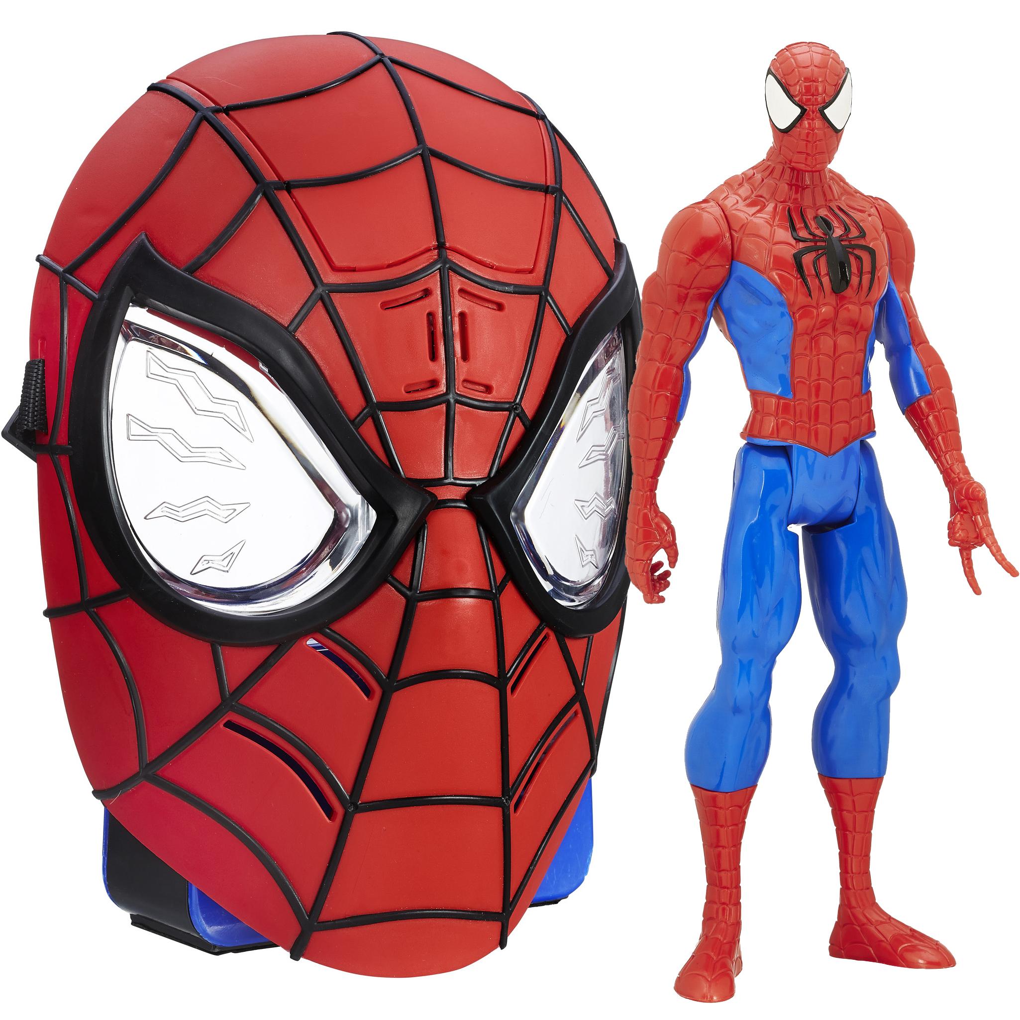 Marvel Spider-Man Titan Hero Series Spider-Man Figure with Ultimate Spider-Man Sinister Six Spidey Sense Mask