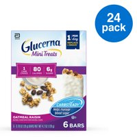 Glucerna Mini Treats for People with Diabetes to Help Manage Blood Sugar, with CARBSTEADY and Essential Vitamins & Minerals, 80 Calories, Oatmeal Raisin, 0.70 oz