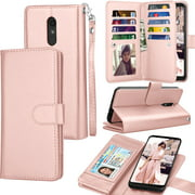 Tekcoo Wallet Case LG Stylo 4 / LG Stylo 3 / LG Q Stylo, Luxury Pu Leather Card Slots Holder Carrying Folio Flip Cover [Detachable Magnetic Hard Case] Kickstand For LG Stylus 4/Stylus 3/Q Stylus