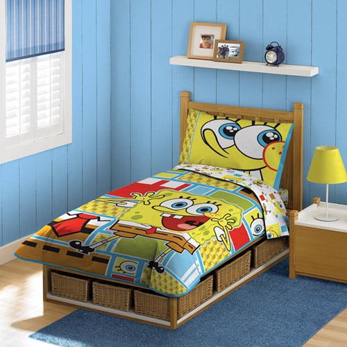 baby boom spongebob satin bedding set walmart com