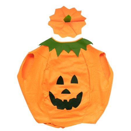 Childrens Halloween Fancy Dress (Children Halloween Pumpkin Costumes Party Fancy Dress Clothes Outfit for)
