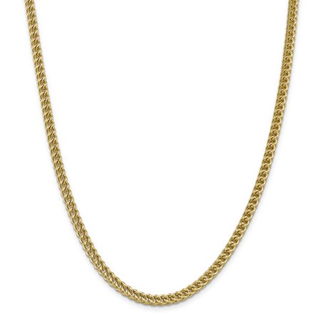 14k Yellow Gold 4.5mm Franco Chain Necklace 24 Inch Pendant Charm Figaro Fine Jewelry Gifts For Women For Her - image 9 of 9