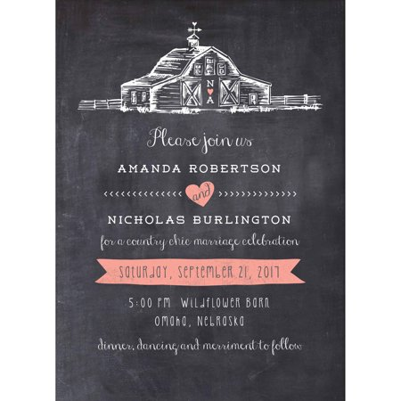 Country Wedding Invitations (Country Chic Barn Standard Wedding Invitation )