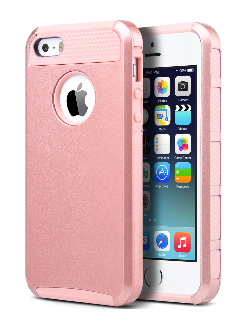 buy popular 1275c 688bb iPhone 5S Case, iPhone 5 Case, ULAK Slim Fit Protection Case Shockproof  Hard Rugged Ultra Protective Back Rubber Cover with Dual Layer Impact ...