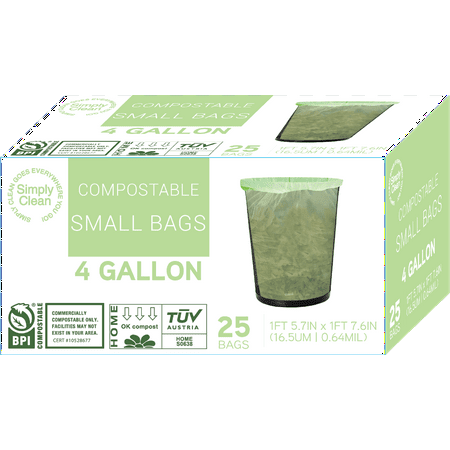 4 Gallon Office/ Home Waste Bag - 25 ct, Case of 12