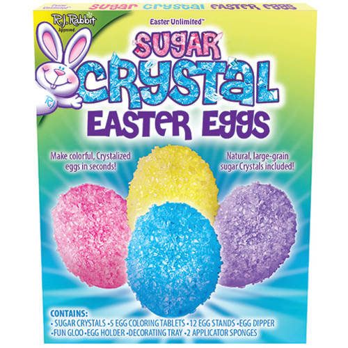 SUGAR CRYSTAL EASTER EGG DECORATING KIT