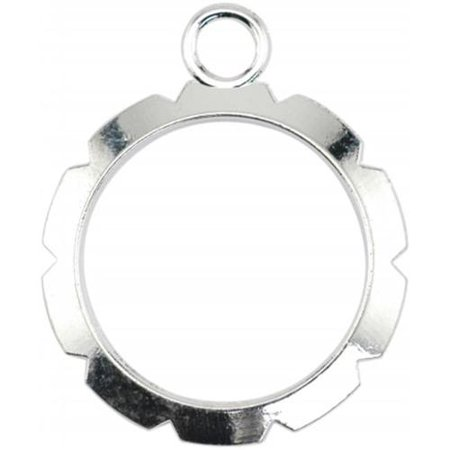 Artistic Wire, Round Wire Wrapper Frames 20mm, 6 Pieces, Silver