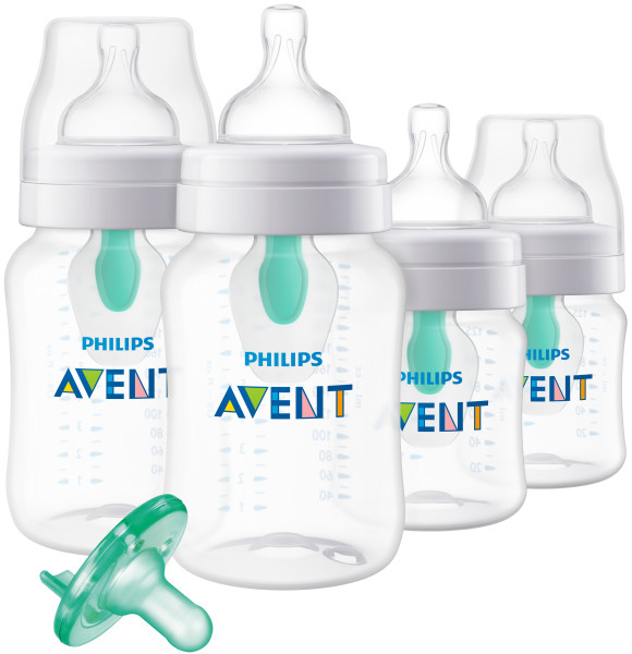 Philips Avent Anti-colic Bottle with Insert Gift Set, SCD390/01