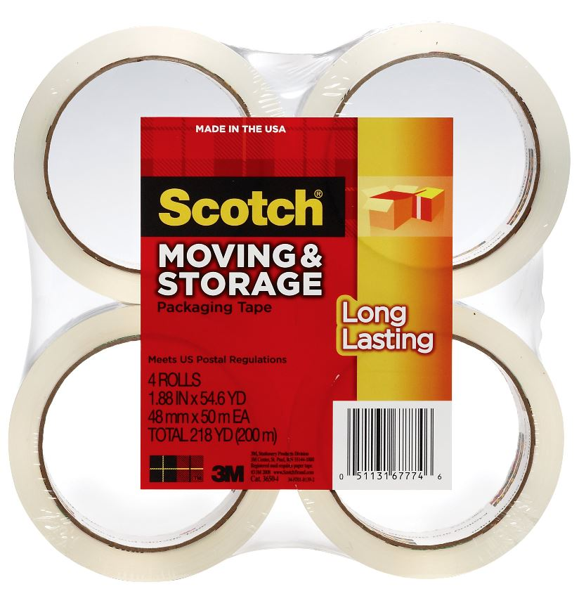 Scotch Long Lasting Storage & Packaging Tape 4 Pack
