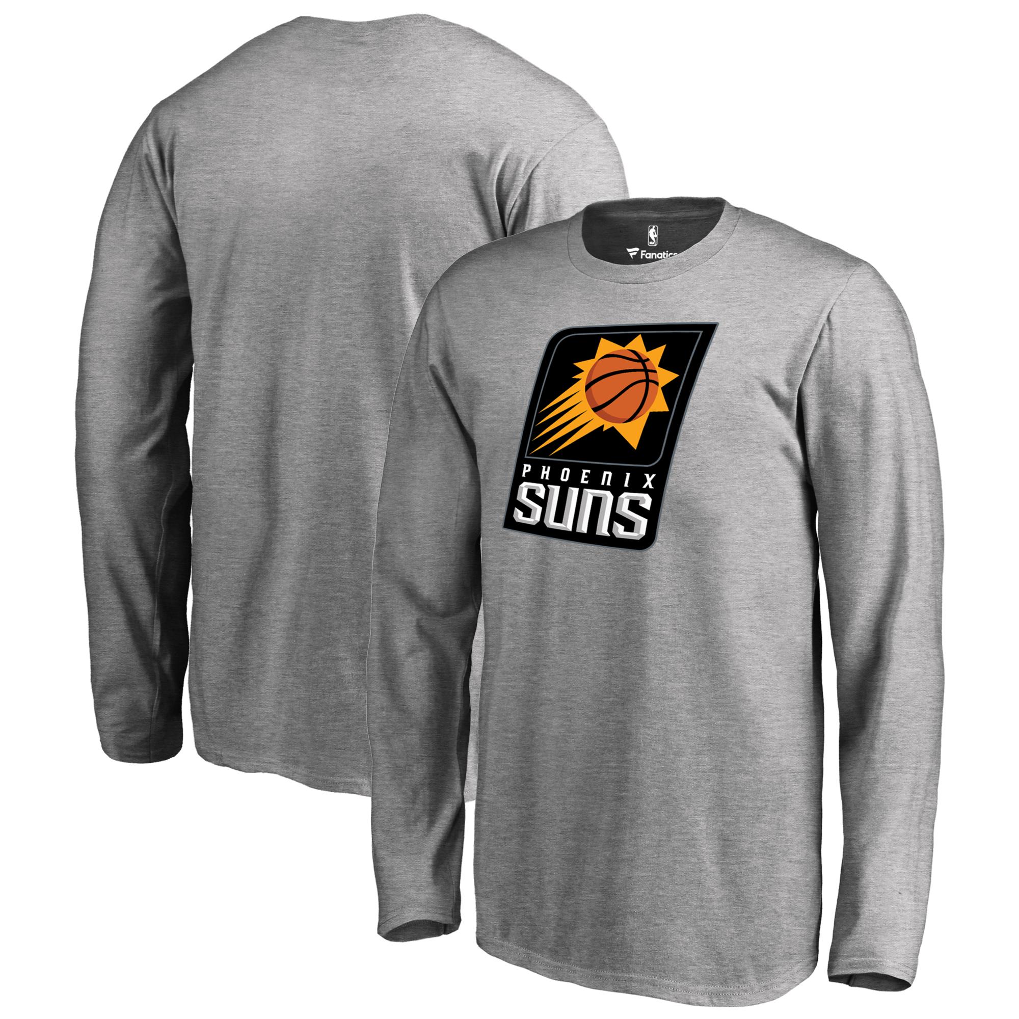 Phoenix Suns Fanatics Branded Youth Primary Logo Long Sleeve T-Shirt - Heathered Gray