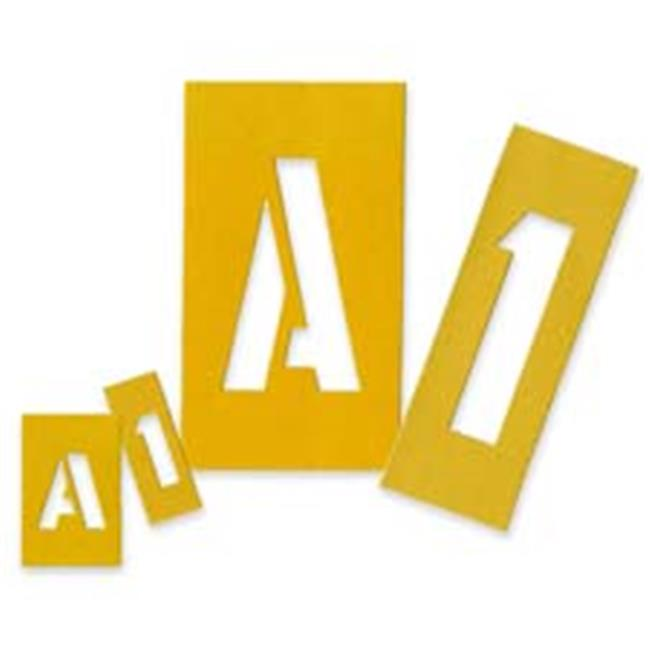 Painting Stencil Numbers-Letters- 4in.- Yellow - image 1 de 1