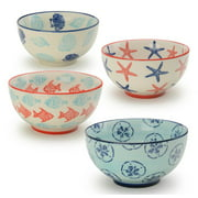 4-Pc 5 in. Assorted Coastal Bowl Set