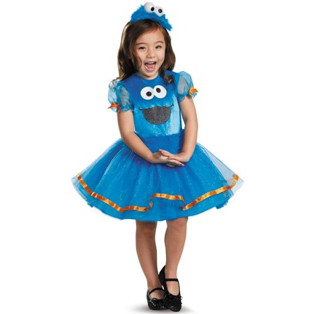 Cookie Monster Tutu Deluxe Toddler Costume