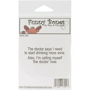 "Riley and Company Funny Bones Cling Mounted Stamp, 2-1/2"" x 1"", I Am The Doctor"