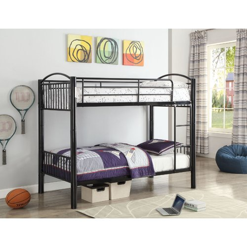 Zoomie Kids Kinch Bunk Bed with Guardrail