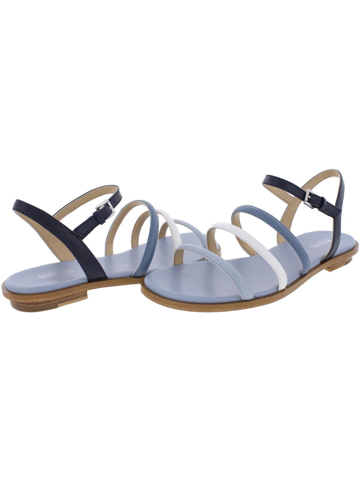 5d3fb7aa4e MICHAEL Michael Kors - MICHAEL Michael Kors Womens Nantucket Leather Open  Toe Flat Sandals - Walmart.com