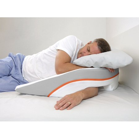 MedCline Advanced Positioning, No Slide Anti-Acid Reflux/Gerd Wedge Pillow for Benefits of Side Sleeping with Incline,