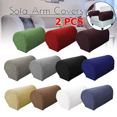 Stretch 2 Piece Furniture Armrest Covers Armchair Cover ...