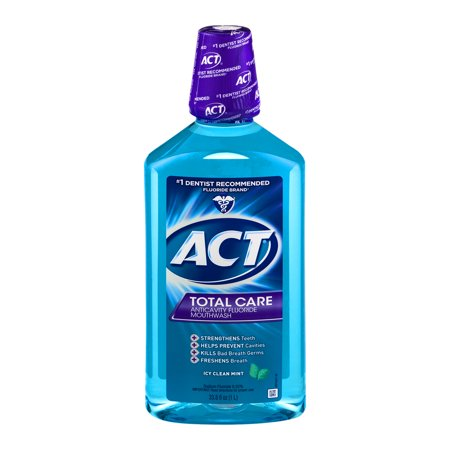 Act Total Care Icy Clean Mint Anticavity Fluoride Mouthwash  33 8 Oz