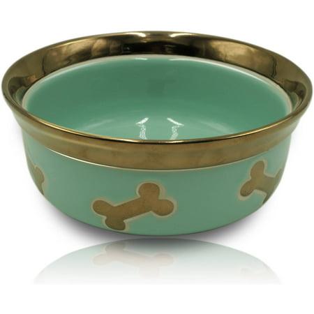 Ceramic Metallic Pets Bowl, Large (Super Pet Ceramic)
