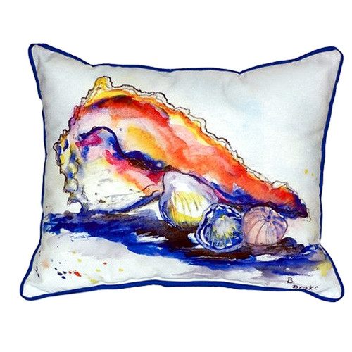Betsy Drake Interiors Conch 24'' Indoor/Outdoor Lumbar Pillow