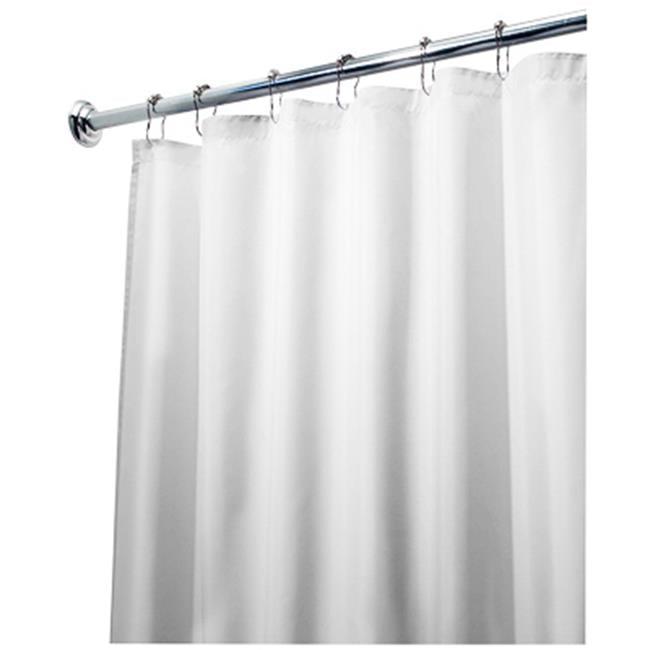 Interdesign 15062 Fabric Shower Curtain Liner 72 X 96 In