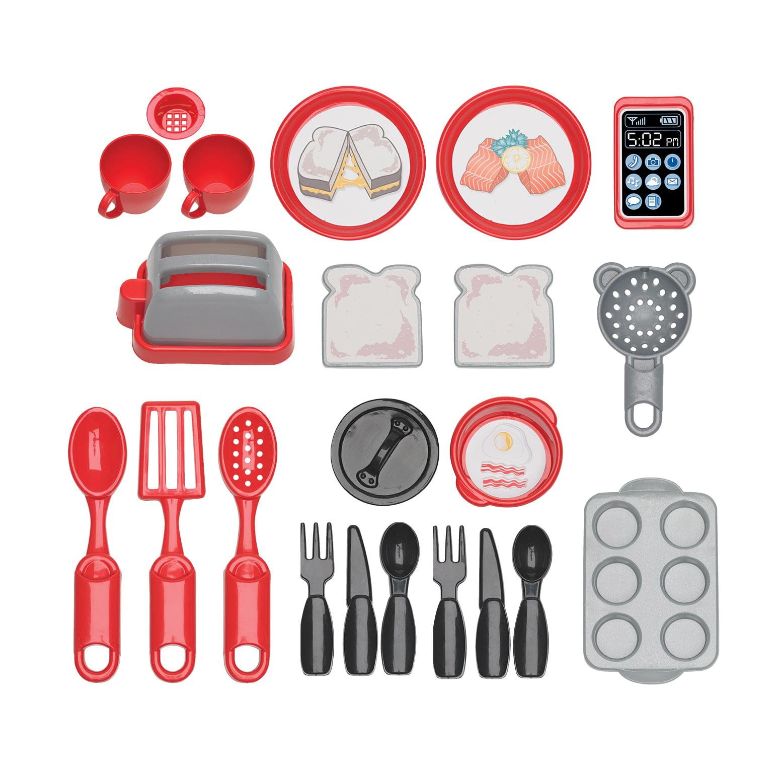 American Plastic Toys Cozy Comfort Kitchen ft. 22 Accessories ...
