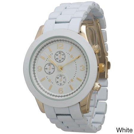 Women's Ceramic Style Boyfriend Bracelet Watch