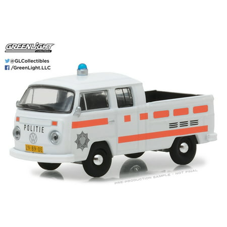 GREENLIGHT 1:64 CLUB V-DUB SERIES 6 - 1977 VOLKSWAGEN T2 TYPE 2 DOUBLE CAB PICK-UP - ROTTERDAM, NETHERLANDS POLICE 29890-E ()