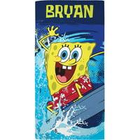 Personalized SpongeBob SquarePants Wave-Tastic Beach Towel