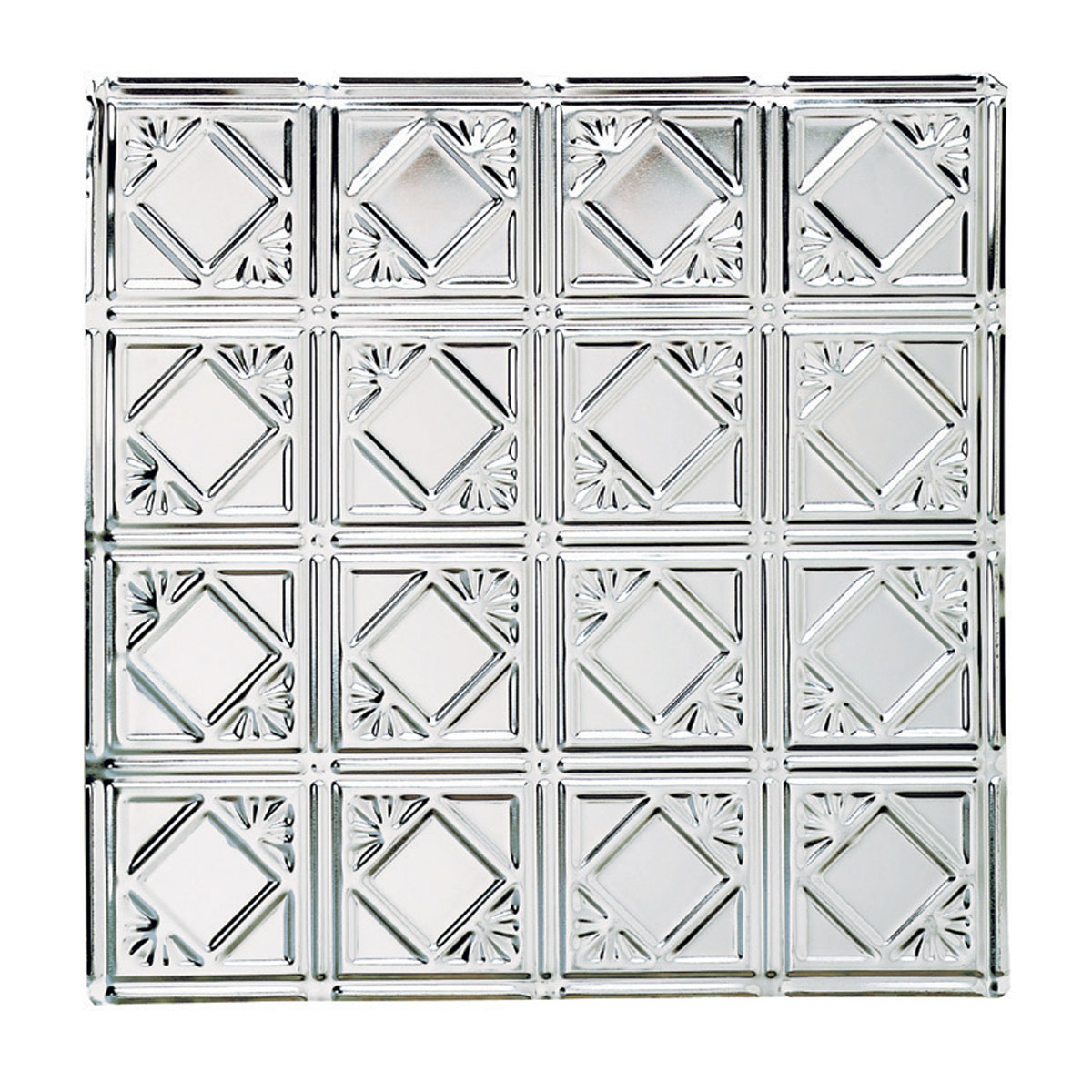 Ceiling Tiles Tin Plated Steel Diamond 2' x 2' | Renovator's Supply