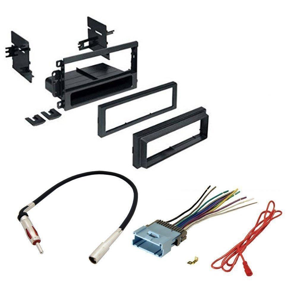 buick 2002 - 2007 rendezvous car stereo cd player dash install mounting kit wire harness radio antenna
