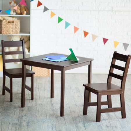 Lipper Childrens Square Table and Chair Set - Walmart.com