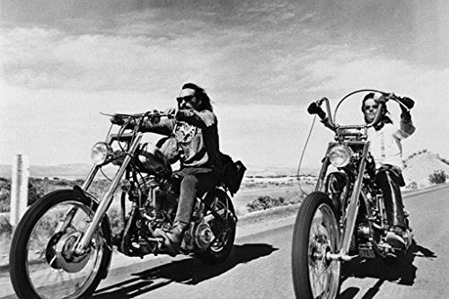 Easy Rider Dennis Hopper and Peter Fonda on Motorcycles  Poster 24 x 36