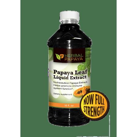Papaya Leaf Liquid Extract - Natural Blood Platelet Level Boost, Bone Marrow, Immune Gut, Digestive Enzyme - Organic Non-GMO Papaya Leaf Juice - 16oz Bottle](Bones And Blood Halloween Food)
