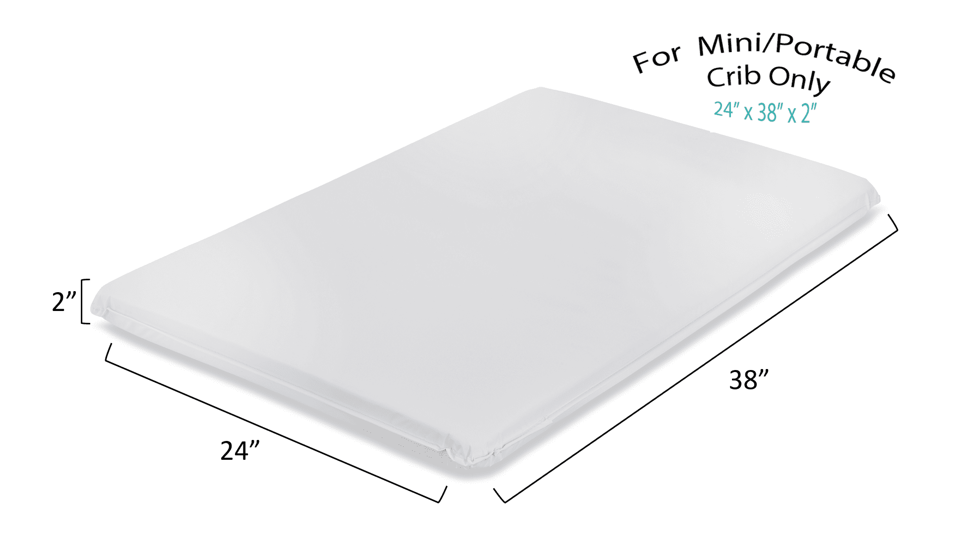 LA Baby 2 Waterproof Mini Portable Crib Mattress Pad Non Full Size by LA Baby