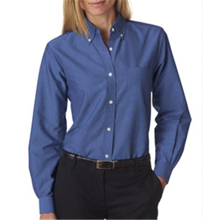 Ultraclub 8990 ladies classic wrinkle free long sleeve Wrinkle free shirts for women
