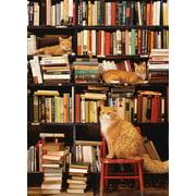 Cobble Hill Gotham Bookstore Cats Jigsaw Puzzle