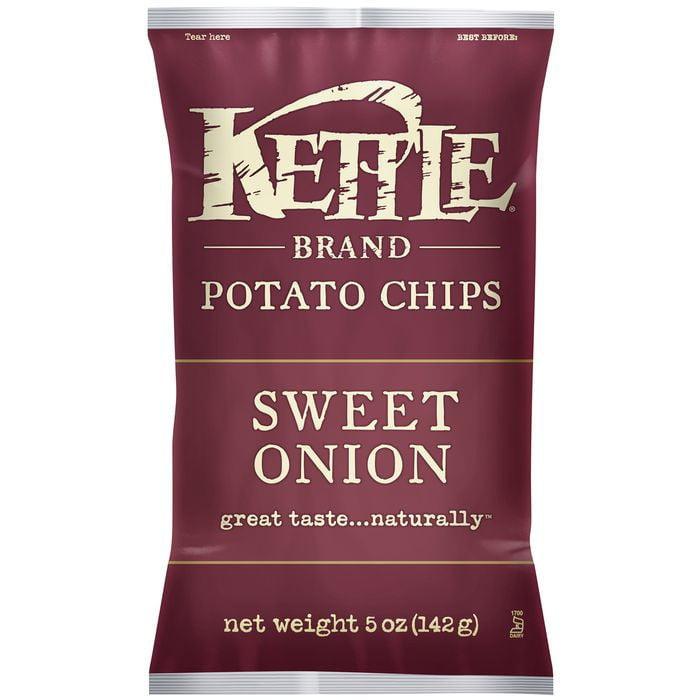 Kettle Brand Sweet Onion Potato Chips 5 Oz Bag (Pack of 15)