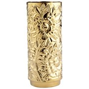 "Cyan Design Medium Carnation Vase Gold Carnation 15"" Tall Ceramic Vase"