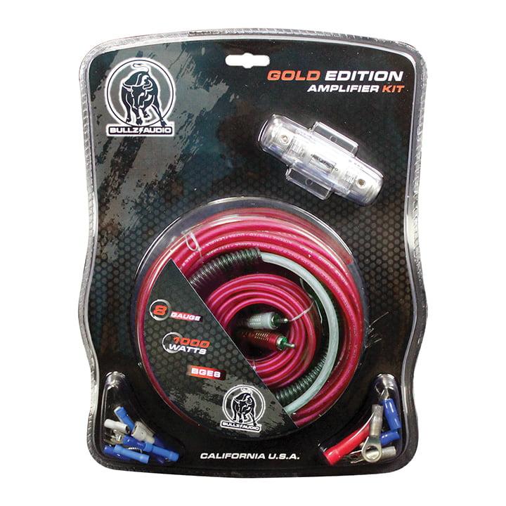 Audiopipe BGE8RP Amplifier Wiring Kit 8gabullzaudiored
