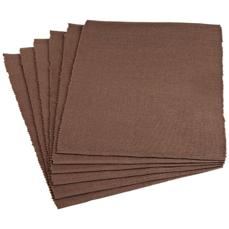 "Design Imports 19"" Placemat in Dark Brown (Set of 6)"