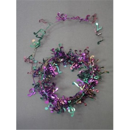 Party Deco 14532 12 ft. Purple- Green and Gold Musical Notes Wire Garland - Pack of 13 - Halloween Colors Demo
