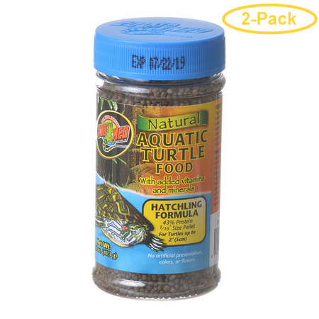 Zoo Med Natural Aquatic Turtle Food - Hatchling Formula (Pellets) 1.9 oz - Pack of