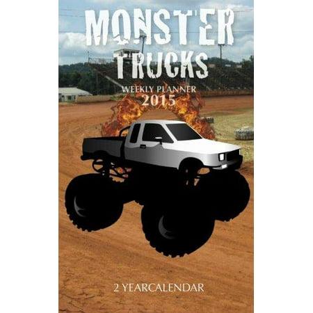 Monster Trucks Weekly Planner 2015  2 Year Calendar