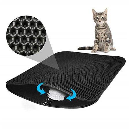 Pet Cat Litter Mat EVA Double-Layer Cat Litter Trapper Mats Non-slip Pet Mat - image 9 of 9
