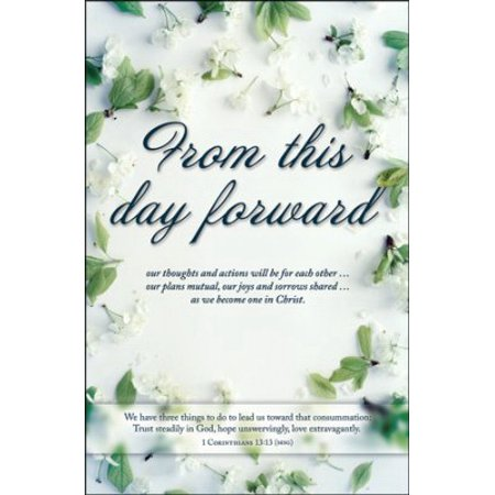 Bulletin-From This Day Forward (Wedding) (1 Corinthians 13:13) (Pack Of 100)](Wedding Bulletins)