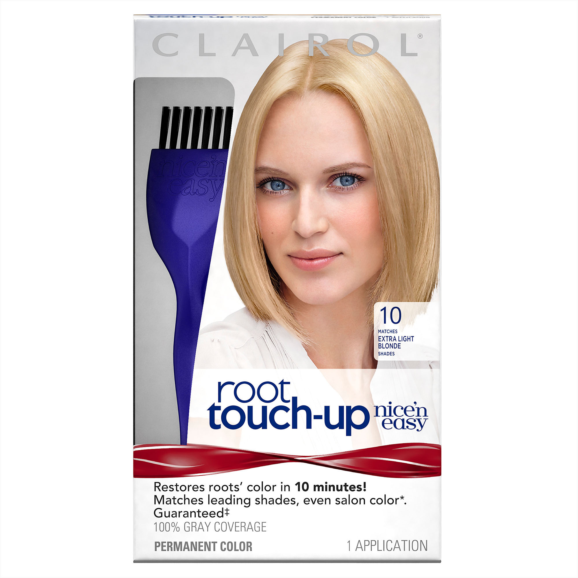 Clairol Nice 'n Easy Root Touch-Up Permanent Hair Color, Extra Light Blonde 10, 1 Kit